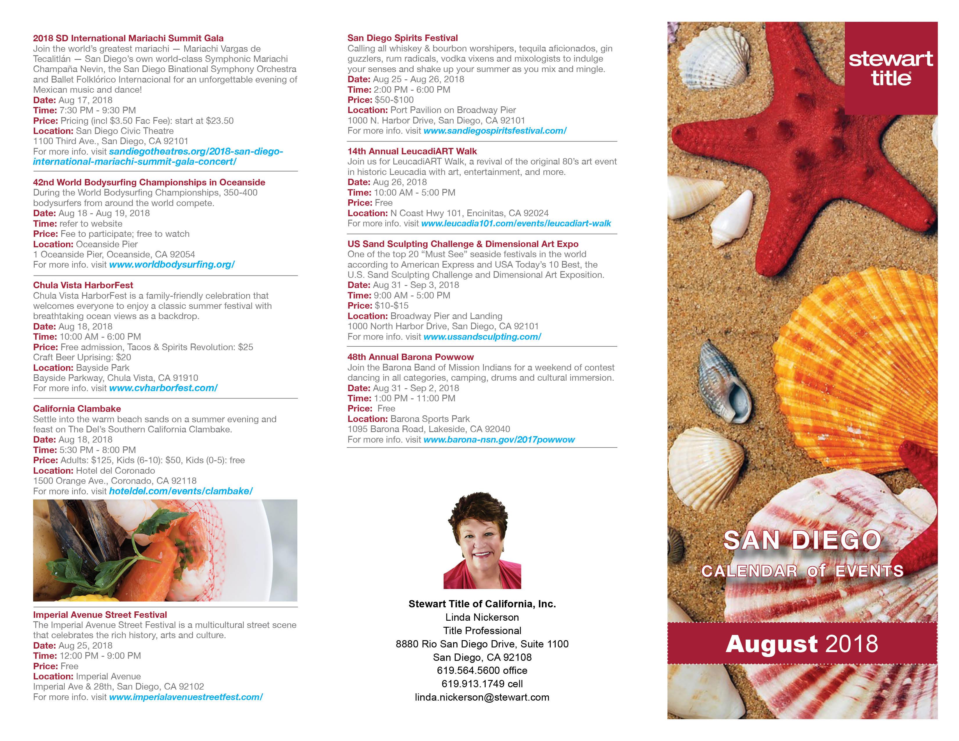 Calendar events SD August 2018-Linda Nickerson