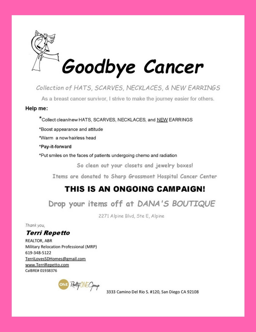 Cancer collection flyer 2-18