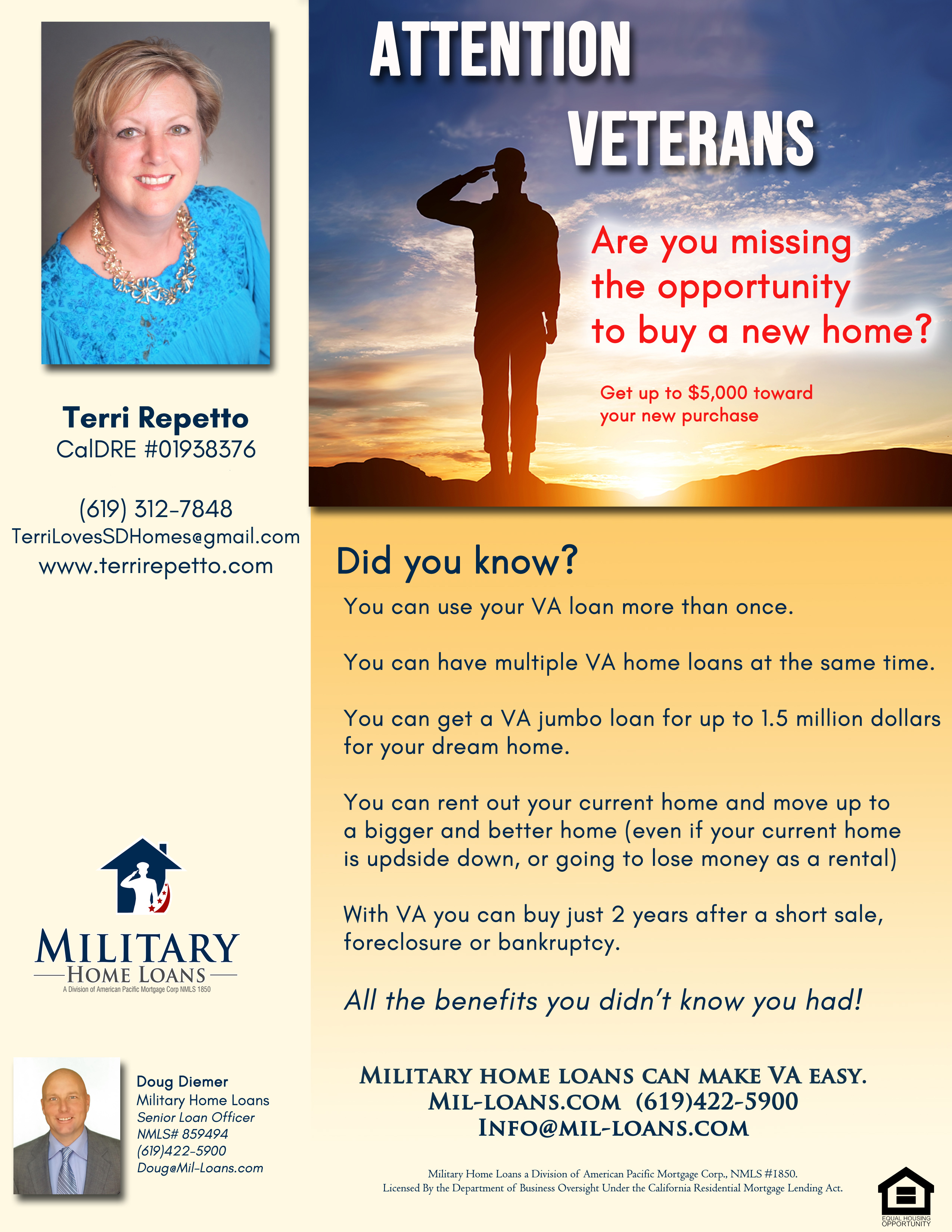 ALM ad ATTENTION VETERANS FLYER